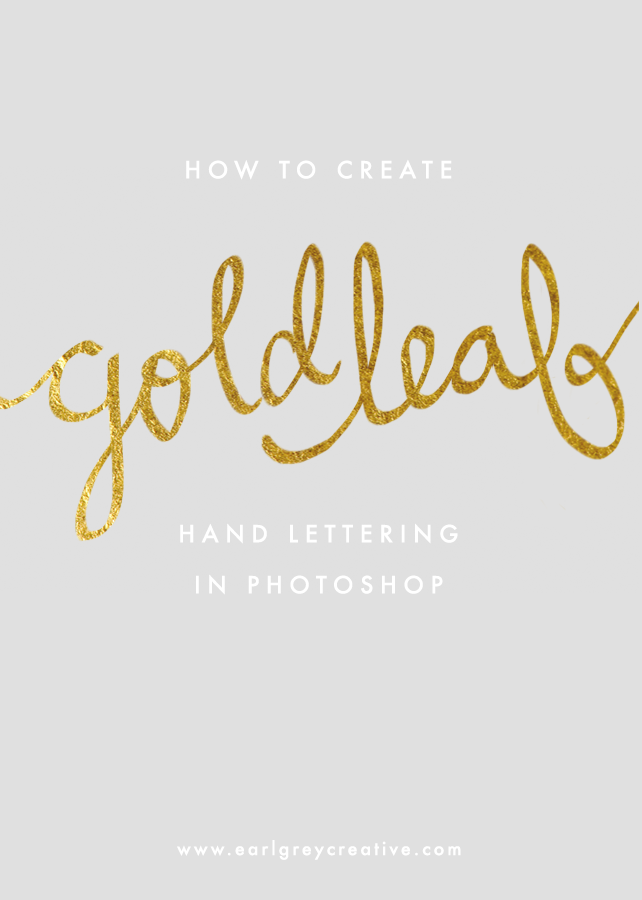 Create Gold Leaf Hand Lettering in shop