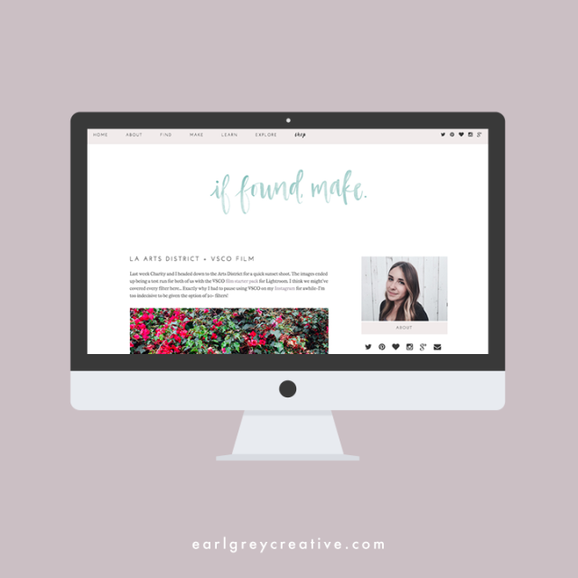 If Found, Make. Blog Design | Earl Grey Creative