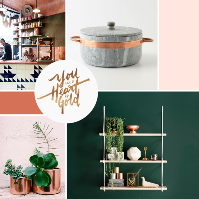 Copper Pink & Green Moodboard | Earl Grey Creative