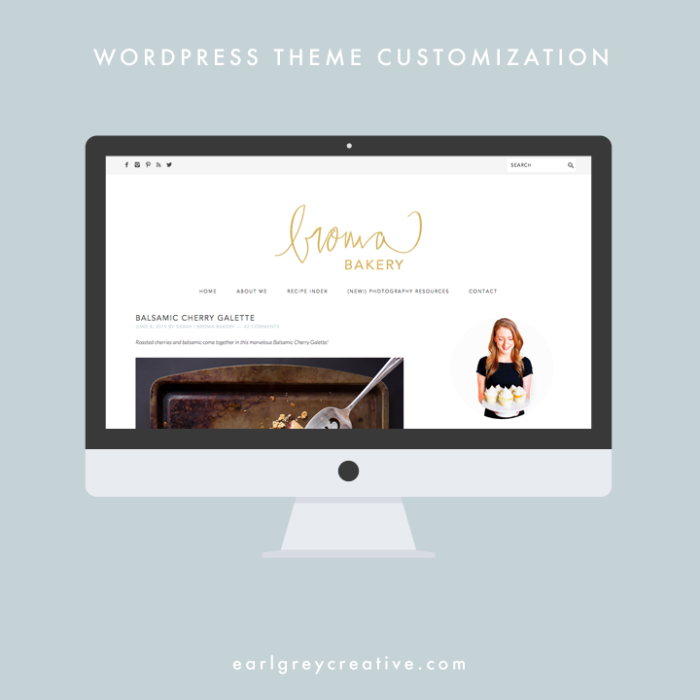 Wordpress Theme Customization | Earl Grey Creative
