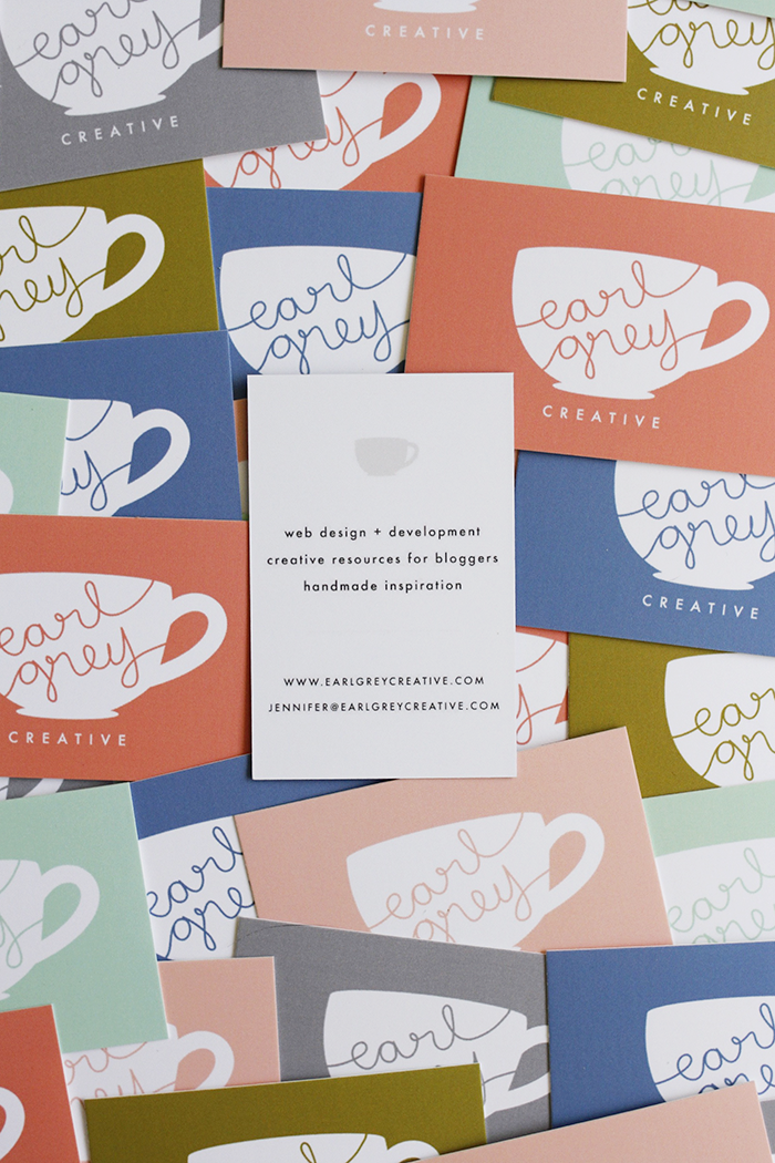 Earl Grey Creative Business Card Design