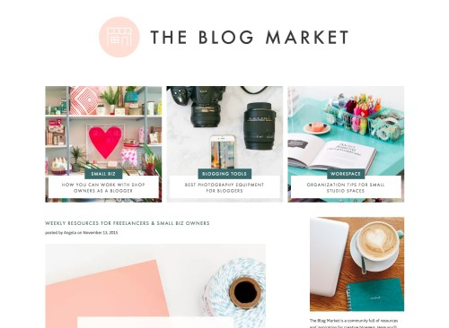 Wordpress Design & Development - The Blog Market | Earl Grey Creative